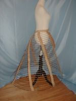 Antique 1860 Hoop Cage For Dress