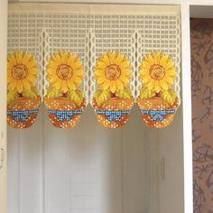 10 best sunflowers images kitchen curtains kitchen window rh pinterest com