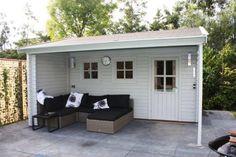 Tuinhuis - Tuinhuisje - Blokhut - Veranda - Overkapping - Tuin - Garden - Shed - Cabin - Porch <3 Fonteyn