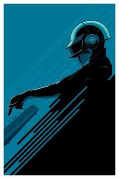 Daft Punk Poster by Craig Drake