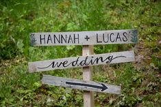 festival themed wedding signage