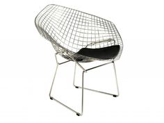 Buy Harry Bertoia Diamond Chair with FREE UK and European delivery. Swivel UK supply the highest quality reproduction furniture to buy online. Harry Bertoia, Chair Design, Furniture Design, Furniture Chairs, Knoll Chairs, Bar Chairs, Wire Chair, Home Furniture Online, Papasan Chair