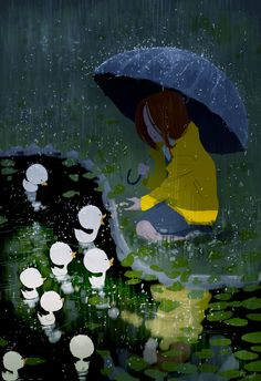My rainy day friends. The ones you can always count on. #pascalcampion