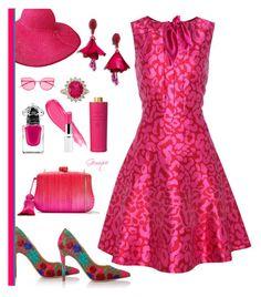 """A Lot of Pink"" by gemique ❤ liked on Polyvore featuring Vivienne Westwood, Oscar de la Renta, Serpui, Acqua di Parma, Guerlain, Gentle Monster and DKNY"