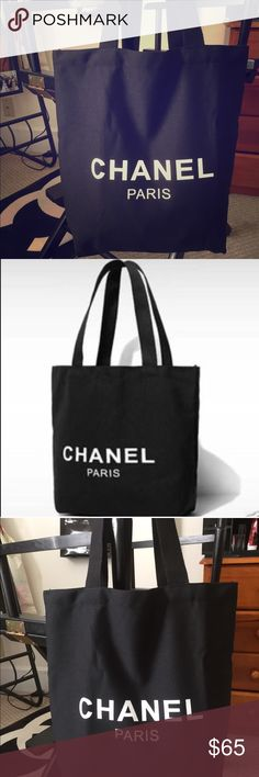 Auth Chanel Canvas Shopping Tote Brand new in packaging! Chanel VIP gift Shopping bag. Gift from Chanel Makeup (no serial #) Logo on both sides of the bag! Measures approximately 15H X 14W. Handles approximately 10.5 inches. Ships next day! CHANEL Bags Totes