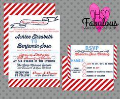 Ashlee /// Baseball Wedding Invitation Set  /// by OhSoFabulous