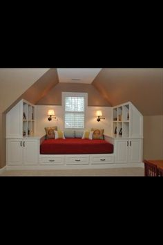 Built in bed getting Curtis to build me this during reno time!