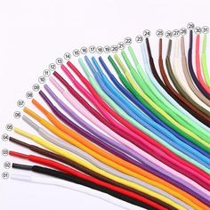 Unisex Shoelaces Fashion Waxed Shoe Laces Oxfords Bootlace Cord Round Shoestring
