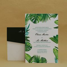 Palm Leaf Green: Wedding Floral Cards , E-Card Designs Buy Palm Leaf Green: Wedding Floral Cards , E-Cards Online. #FloralWedding #WaterColor #Floral #Peonies #Minimal #Lily #FloralInvitation #Fabric Print #GoldFrame #SaveTheDate #RSVP #Card #Stationery #Vintage