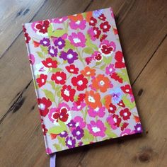 A5 Handmade Notebook Covered in a Pansy Fabric £10.00