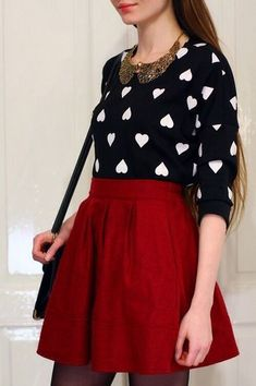 49 Charming Valentines Day Outfit Ideas For Teens - TILEPENDANT Awesome 49 Charming Valentines Day Outfit Ideas For Teens. Valentine Outfits For Women, Party Outfit For Teen Girls, Cute Valentines Day Outfits, Outfits For Teens, Valentine Stuff, Valentine Party, Holiday Outfits, School Outfits, Swag Outfits