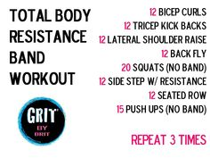 12-15 reps, 3 sets, good to go | Total Body Resistance Band Workout
