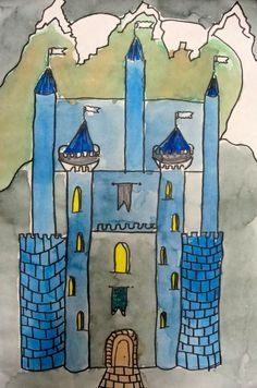 Deep Space Sparkle – How to draw a castle art project