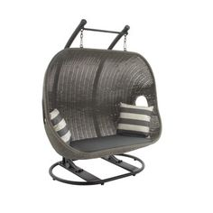 Shop for Metal Wicker Swing Chair. Get free shipping at Overstock.com - Your Online Garden & Patio Outlet Store! Get 5% in rewards with Club O! - 17645736