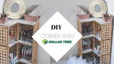 DOLLAR TREE CORNERED MAKEUP SHELF |DOLLAR  TREE HOME DECOR