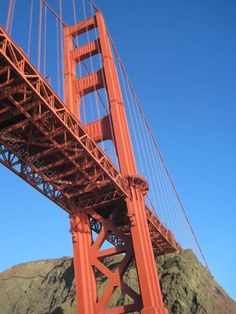 The beautiful Golden Gate Bridge early morning, San Francisco California, taken on way out to the farallones