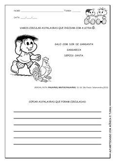 Alfabetizando com Mônica e Turma: Texto para caderno de leitura