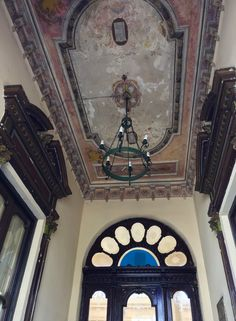 Detalle de un zaguán antiguo de Asunción-Paraguay