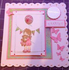 Purple Cat Crafts: A birthday card.