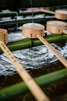 brown wooden stand on water photo – Free Bamboo Image on Unsplash