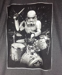 Star Wars Men's T-shirt Stormtropper Drummer! New! Rock n Roll, playing drums in Clothing, Shoes & Accessories, Men's Clothing, T-Shirts | eBay
