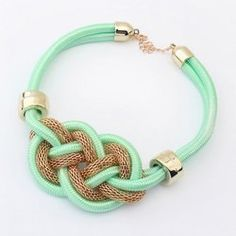 Trendy Fluorescence Color Rope Weaved Necklace For Women