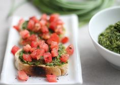 Swiss Chard Garlic Scape Pesto, from Jeanette's Healthy Living.