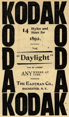 Vintage Kodak Ad - 1892