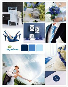 Classic Wedding Inspiration - Blue color palette.... These are the perfect blues