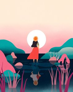 An illustration for Weekend magazine about traveling to foreign places on your own.