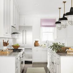 Recently, we talked about Kitchen Remodeling 101 with Bria Hammel, our Brand Ambassador. We decided to follow back up with her and talk further, this time addressing a very common problem: How do you renovate small kitchens? We asked Bria for her top three tips – and got an extra one for good measure! Kitchen Tile, The Hamptons, Kitchen Remodel, Small Kitchen, Woven Trays, The Tile Shop, Kitchen Vignettes, Custom Cabinets, Custom Window Treatments