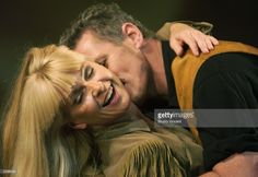 Toyah Willcox (R) and Michael Cormick performs in a photocall for 'Calamity Jane' at Shaftsbury Theatre June 19, 2003 in London, United Kingdom.