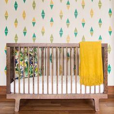 Oeuf Sparrow Crib In Walnut Babyroom Cribs Interior Modern Nursery Http
