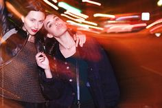 2 women hanging out in barcelona overnight by Guille Faingold - Friendship - Stocksy United Red Leather, Leather Jacket, Night City, Hanging Out, Girl Photos, Barcelona, Friendship, The Unit, Stock Photos