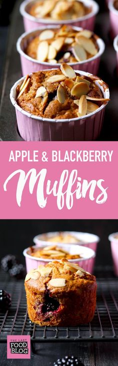 Apple & Blackberry Muffins - thelastfoodblog.com