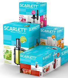 Scarlett / Scarlett / KIAN Packaging Ideas, Packaging Design, Branding Design, Bathroom Ideas, Light Bulb, Cooker, Boxes, Packing, Amazon
