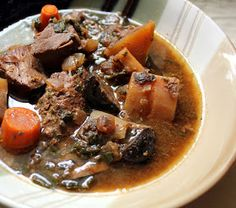 "Stuff I Make My Husband: Mega-veggie freezer beef stew | ""Omit the mushrooms."" -MB."