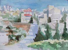 Beit Jala 02 Palestine 2014 watercolour on paper 26 x 18 cm Watercolour, Paper, Painting, Art, Palestine, Pen And Wash, Art Background, Watercolor Painting, Watercolor