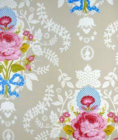 Pip Studio Shabby chic khaki wallpaper