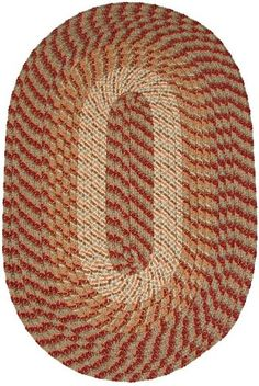 Plymouth 5 x 8 Oval Braided Rug in Sunset Copper -- Want additional info? Click on the image.