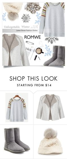 """Pale-Grey-Raglan-Sleeve-Contrast-Trim-Sweatshirt"" by ellma94 ❤ liked on Polyvore featuring Hobbs, UGG Australia, SIJJL and Camilla Christine"