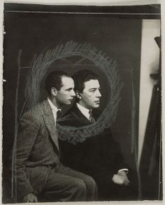Louis Aragon et André Breton, 1925, by Man Ray