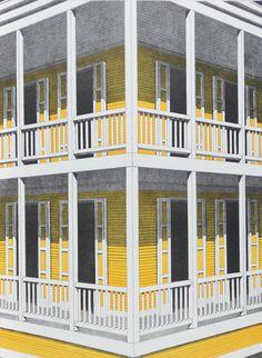"""Emilio Sanchez, """"The New House"""" 1970"""