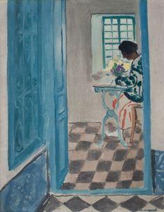 Albert MARQUET (1875-1947), Intérieur à Sidi-Bou-Saïd, ca. 1923, huile sur toile marouflée sur carton toilé, 40,7 x 32 cm. © MuMa Le Havre / David Fogel — © ADAGP, Paris, 2015