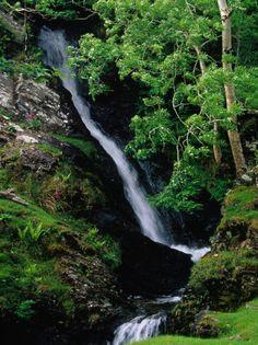 Waterfall Near Kylemore Abbey - Co. Mayo, Ireland