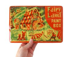 Fairy Land PAINT BOX Watercolor Tin