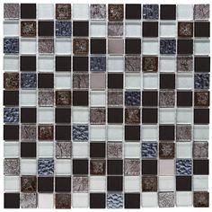 Malla Decorativa Moonlight con mezcla de cristal y piezas cerámicas en diferentes tonalidades y texturas. Medida (cm) 30 x 30 Grosor (cm) 0.8