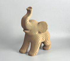 Cute Elephant model - DIY cardboard Kit