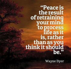 Peace is the result of retraining your mind to process #life as it ...  sayi...