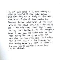 A quote from Stuck in Love.... one of the best movies ever made.